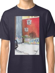 stained red wall Classic T-Shirt