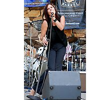 Lead Vocalist from The Cheating Buzzies Photographic Print