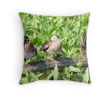 Wood Ducks Throw Pillow