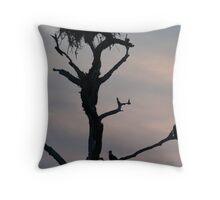 Osprey Silhouette Throw Pillow
