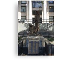 Military Statue Canvas Print