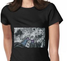 chucks in the snow Womens Fitted T-Shirt
