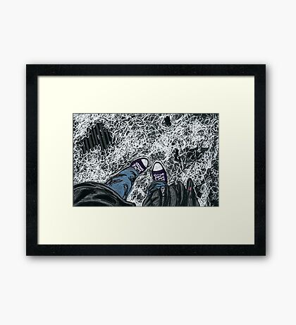 chucks in the snow Framed Print