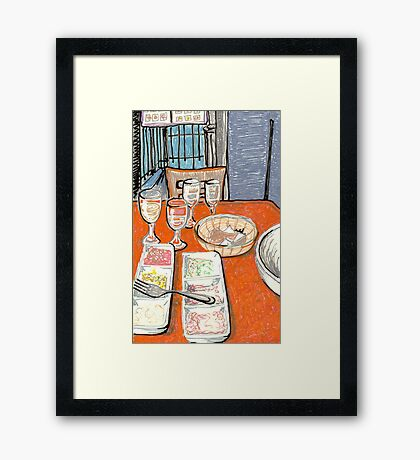 greek mezze Framed Print