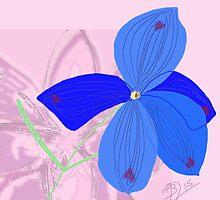 Delphinium sp. floral by BruceFuller
