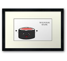 Maki Roll Framed Print
