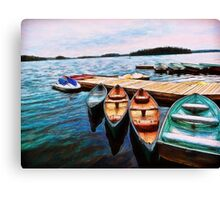 Boats Are Waiting Canvas Print