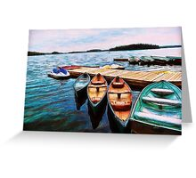 Boats Are Waiting Greeting Card