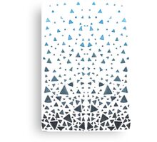 50 Shades of Blue Triangles Canvas Print