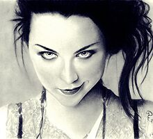 Amy Lee of Evanescence Pencil Drawing by booters