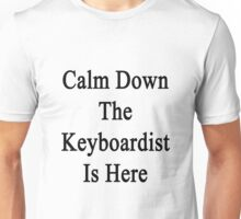 Calm Down The Keyboardist Is Here  Unisex T-Shirt