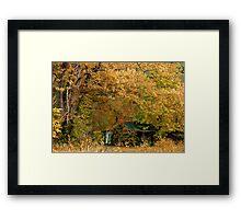 Smothered Cottage Framed Print