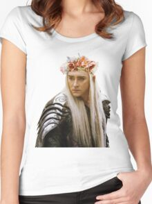 Flower Crown Thranduil Women's Fitted Scoop T-Shirt