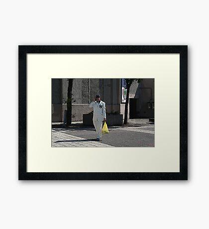 #1 yankee fan Framed Print