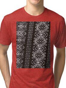 Black and White Pattern Tri-blend T-Shirt