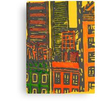 view from the moma (yellow) Canvas Print