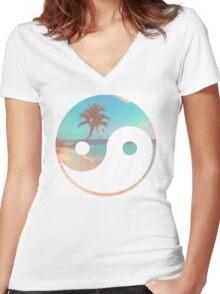 Beach Zen Women's Fitted V-Neck T-Shirt