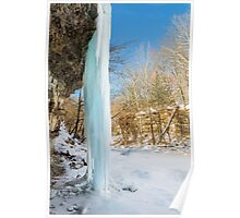 Icy Column Poster
