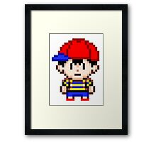Ness - Earthbound Smash Bros Mini Pixel Framed Print