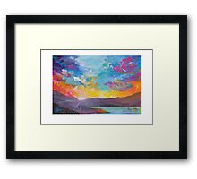 Colorful Sky Painting Framed Print