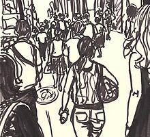 fashion avenue at morning rush hour by purplestgirl