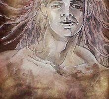 Defining Destiny, Rebirth Self-portrait (Drawing in progress)- by Robert Dye