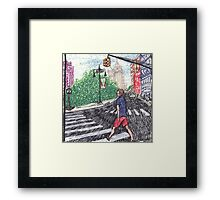 intense speedwalker Framed Print