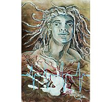 Defining Destiny, Rebirth Self-portrait (Mixed Media Drawing)- Photographic Print