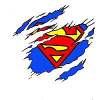 Superman Ripped  Photographic Print