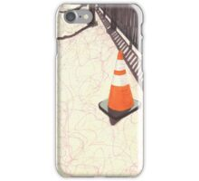 orange traffic cone iPhone Case/Skin