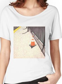 orange traffic cone Women's Relaxed Fit T-Shirt