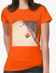 orange traffic cone Womens Fitted T-Shirt
