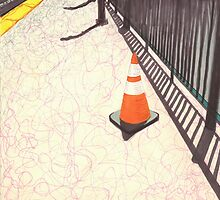 orange traffic cone by purplestgirl