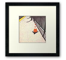 orange traffic cone Framed Print
