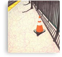 orange traffic cone Canvas Print