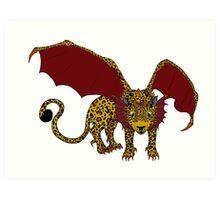 Leopard Dragon  Art Print