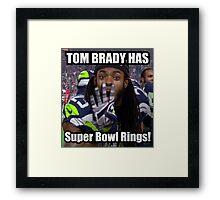 Tom Brady Has Four 4 Super Bowl Rings! Framed Print