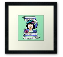 I'm No Hero Framed Print