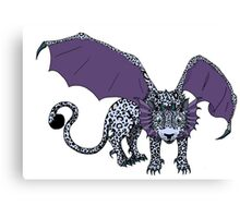 Snow Leopard Dragon  Canvas Print