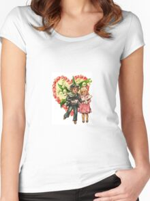 VALENTINE SWEETHEART SKATERS Women's Fitted Scoop T-Shirt