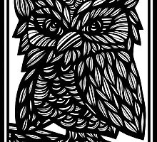 Owl, Artwork, Drawing, Home Decor by martygraw