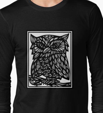 Owl, Artwork, Drawing, Home Decor Long Sleeve T-Shirt