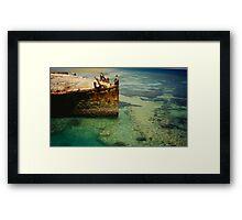 Heron Island Shipwreck, Australia Framed Print