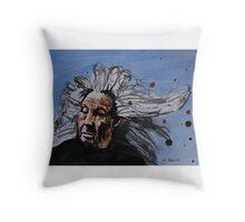Crazy Woman Throw Pillow