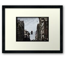 Old Theater District Framed Print