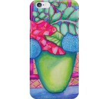 Flowers by the pool iPhone Case/Skin