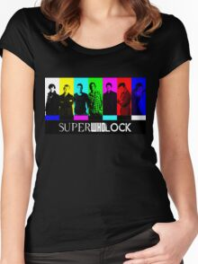 SuperWhoLock TV Color Screen Women's Fitted Scoop T-Shirt