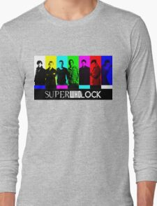 SuperWhoLock TV Color Screen Long Sleeve T-Shirt