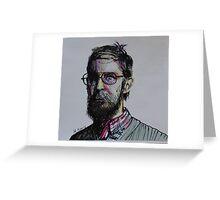 Glasses Gaze Greeting Card