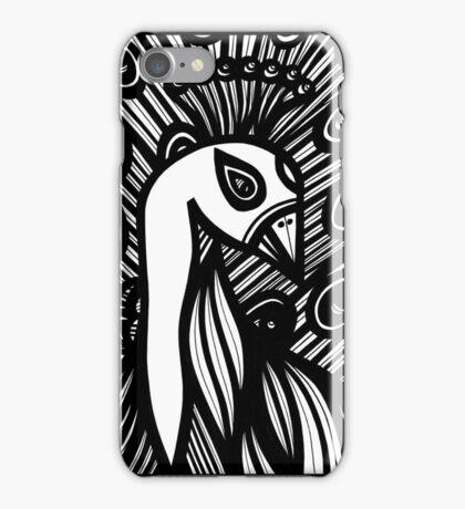 Peacock, Artwork, Drawing iPhone Case/Skin